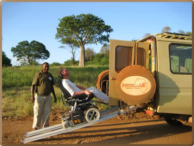 Wheelchair adapted vehicles with GoAfrica Safaris in Kenya and Tanzania.