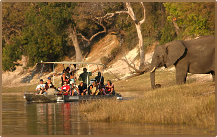 Accessible Africa includes safari boating on rivers for people with limited mobility.