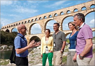 Uniworld shore excursion around Avignon, France.