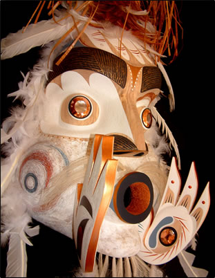 Aboriginal art, native mask, BC native artists, aboriginal culture, British Columbia tourism.