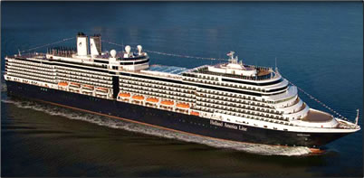 MS Oosterdam, Holland America Line, sails around Australia and the South Pacific in 2013.