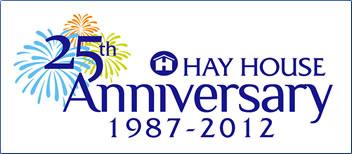 Hay House Publishing, 25th anniversary logo.