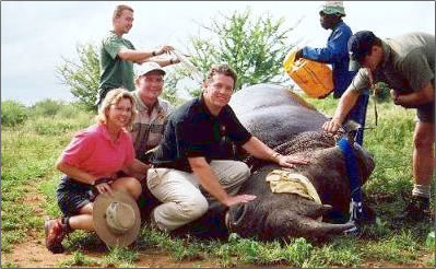 Wildlife veterinarian, Dr. Peter Brothers, leads African safari adventure holidays.