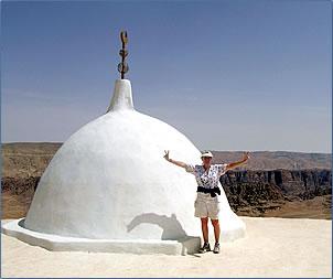 Aaron's shrine at the top of Mount Aaron, Jebel Haroun.