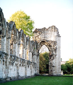 The Abbey at York, England visited on Elderhostel study tour by Mona Magnis.