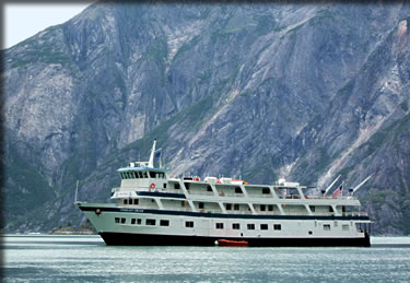 Admiralty Dream Alaska expeditionary cruise ship during Inside Passage cruise.