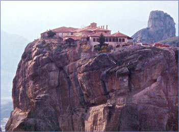 Monastery of Agia Triada, Meteora, Greece.