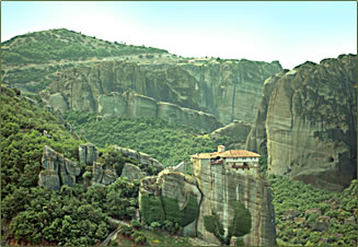 Monastery of Agia Triada is part of a Greek cultural vacation to Meteora.