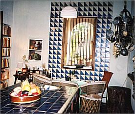 Restored kitchen in a heritage mansion.