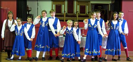 Children do traditional Norwegian dances in Petersburg, Alaska.