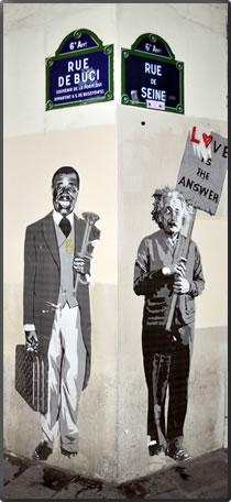 Louis Armstrong meets Albert Einstein in Black Paris African American heritage tours.