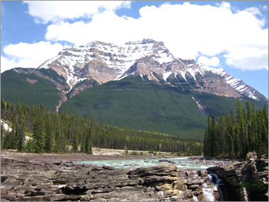 Athabasca Falls, What to see and do in Jasper National Park, Alberta.