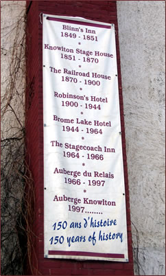 Auberge Knowlton, Eastern Townships, cultural holidays Quebec, historic accommodations Quebec, senior travel Quebec.