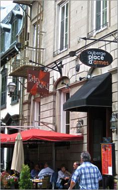 Quebec City's Auberge Place d'Armes.