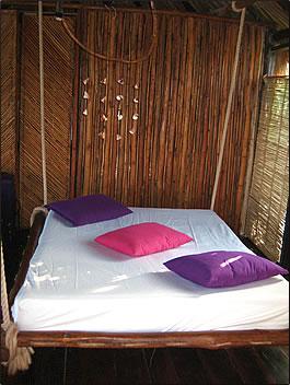 Azulik EcoTulum Resorts cottage interior.