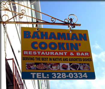 Bahamian Cookin' Restaurant on Nassau Bahamas cooking tours