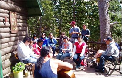 Barr Camp at Pikes Peak, Colorado.