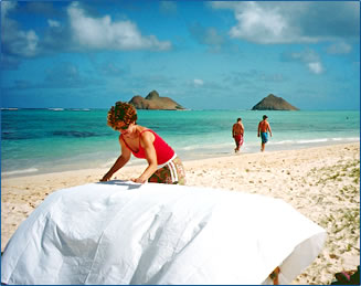 Beach massage is on the menu of Hawaii healthy and wellness vacations.