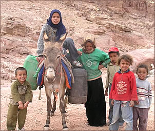 Israel and Middle Eastern peace at Petra, Jordan by Margie Goldsmith.