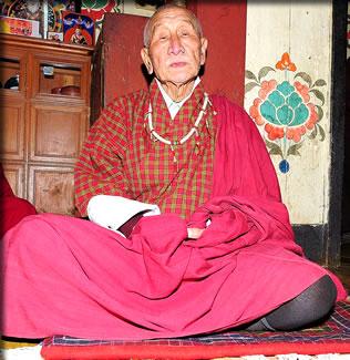 Bhutan cultural travel: rural family patriarch.