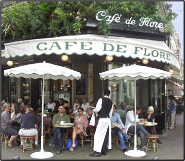 Cafe de Flore, Paris France travel articles.