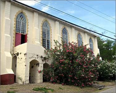 Carriacou Anglican church, Caribbean cultural travel Grenada.