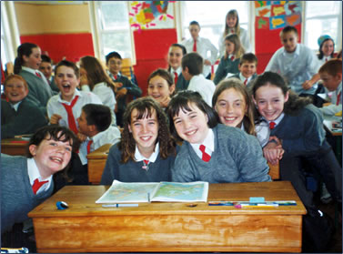 The Creaky Traveler and Ireland independent travel visits schools.