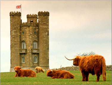 Broadway Tower in Worcestershire: budget travel in Britain.