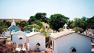Community cemetery in El Quelite, Mexico.