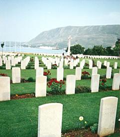 World War II cemetery at Suda Bay, Crete