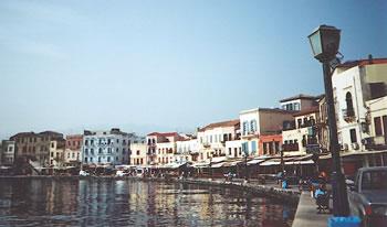 Chania 's Venetian harbor, Crete