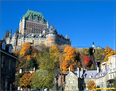 Le Chateau Frontenac hotel, cultural history in Quebec City.
