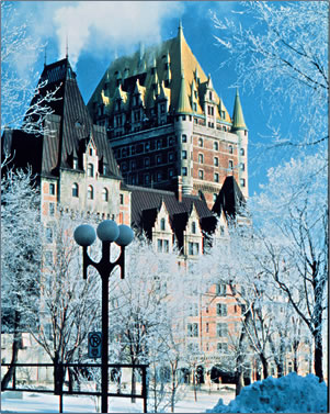 Le Chateau Frontenac hotel , cultural history in Quebec City.