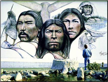 Chemainus native heritage mural by Paul Ygartua.