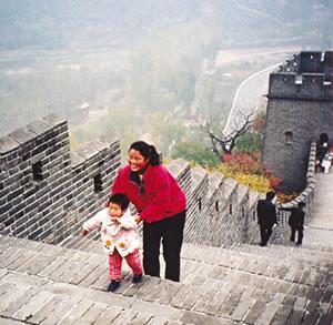 Great Wall of China hiking vacation.
