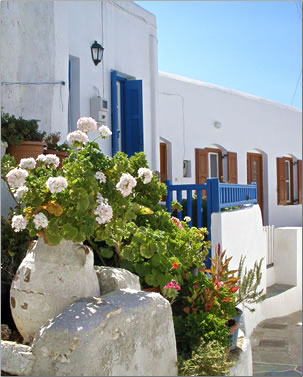 Village of Chora, on Folegandros, Greek Islands, an article.