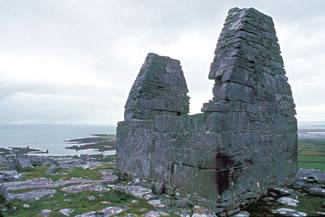 Ruins of a Christian Church at Innishmore, Aran Islands, Ireland.