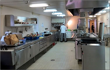 Container ship galley.