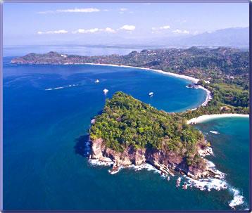 Manuel Antonio National Park beaches and coastline.