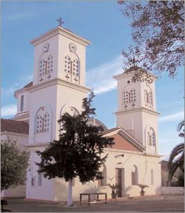 Church at Akrotiri, Crete, Greece.