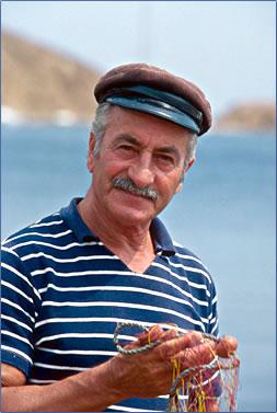 Crete fisherman, Greek fisherman, Crete culture.