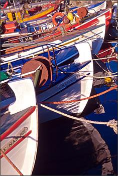 Crete fishing boats, Greek culture, Greek Islands holidays.