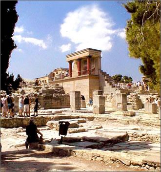 Knossos Palace, Crete, Minoan civilization.