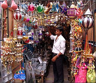 New Delhi, India bazaar.