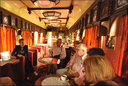 Informal lecture aboard luxury Golden Eagle Train Journey, Tehran to Budapest.