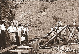 Sugar cane plantation on Kauai, historic photo.