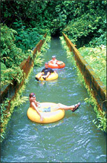 Sugar plantation ditch tubing is an adventurous Hawaiian Islands vacation.