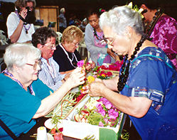 In Hawaiian EDventures programs, lei making is an art in the Hawaiian Islands.