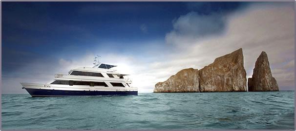 Ecoventura Galapagos Island eco-cruises with birds and wildlife.
