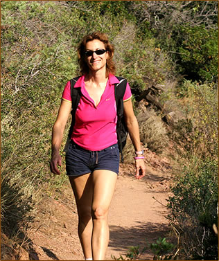 Florence Chatzigianis, author of 26 Gorgeous Hikes on the Western Cote d'Azur.